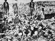 BW ONLYIMF47 - 19150101 - -, - : An unlocated document shows a man standing besides the bodies of Armenian victims of Turkish deportation in the second part of the 1910's. Turkey quickly condemned approval by the French senate early 08 November 2000 of a bill recognising the killings of Armenians in the Ottoman Empire in 1915 as genocide and said the vote had already harmed relations between the two states. EPA PHOTO CRDA/-/eba/ao