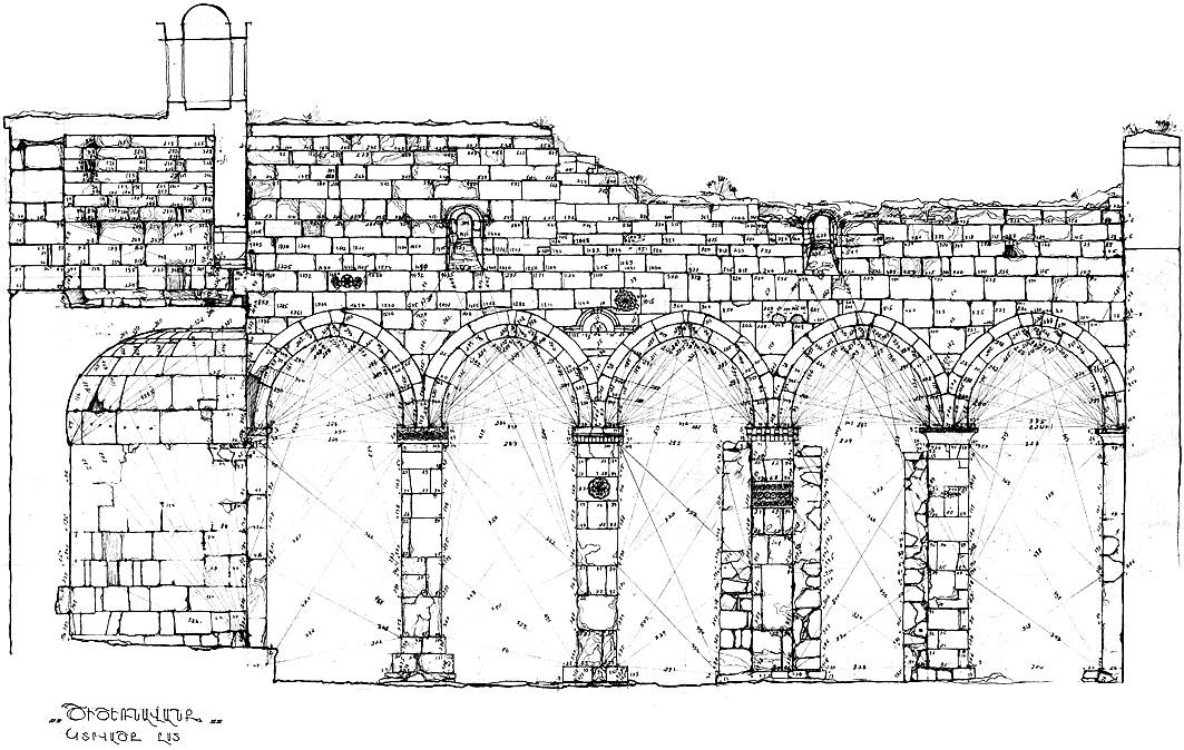 Արցախ, Քաշաթաղի շրջան, Ծիծեռնավանք, II-VII դդ. (չափագրությունը՝ Հ. Սանամյանի)