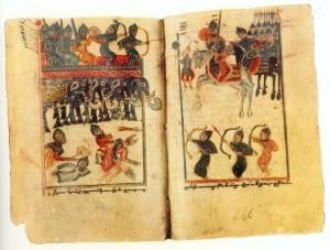 """Yeğişe'nin """"Vardan ve Ermeni Savaşı Üzerine"""" eserinin elyazmasından bir resim (15. yüzyıl)"""